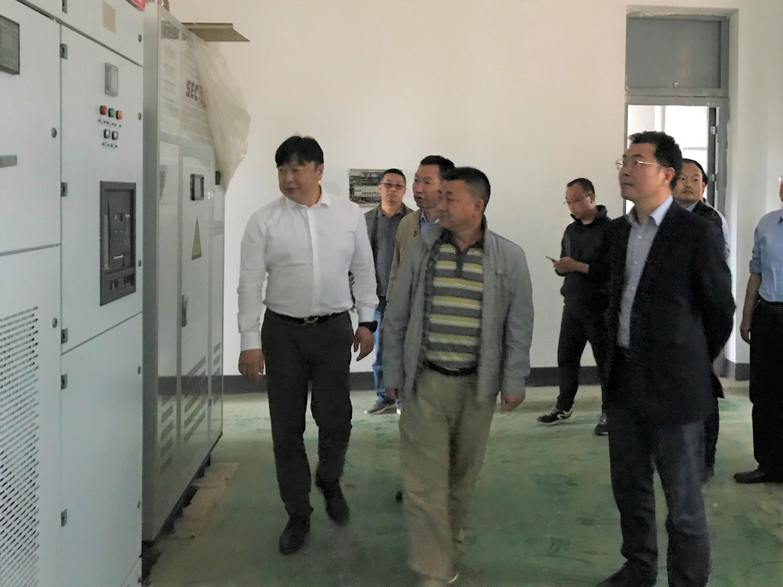 总部领导视察汉中石门技改工程建设进展情况