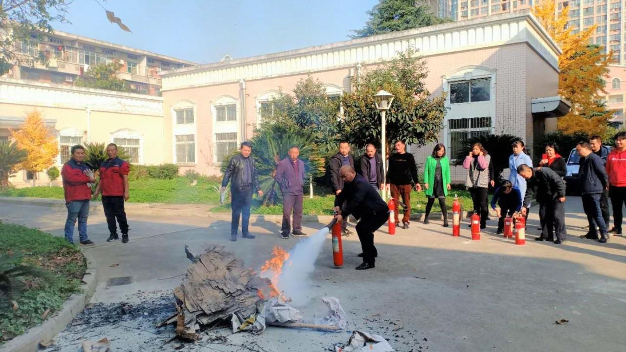 汉中国中水司举行冬季消防实战演练